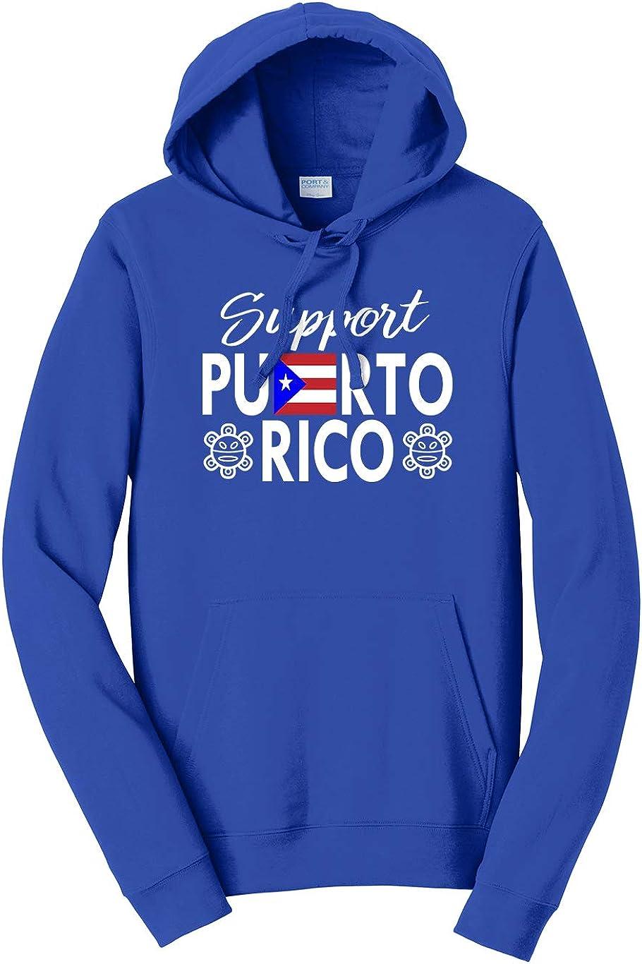 Tenacitee Unisex Support Puerto Rico Hooded Sweatshirt