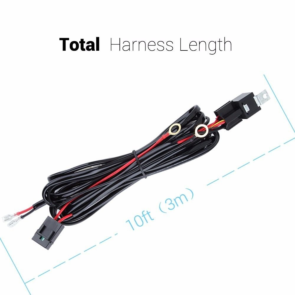 Lumitek Universal Led Light Bar Remote Wiring Harness Boat Board Kit With 40a 12v On Off Switch Relay For Road Driving Lights Fog Automotive