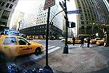 【アメリカの風景/ニューヨークのポストカード】タクシーのある風景のハガキ photo by MIRO