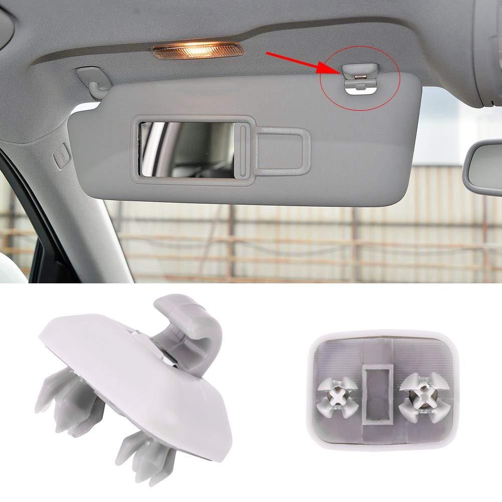 Ejoyous Sun Visor Hook Clip Interior Auto Replacement Clip Bracket Compatible with Audi A1 A3 S3 A4 S4 A5 S5 Q3 Q5 TT Quattro 8E0857562A Grey