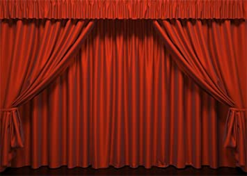 Leowefowa 7X5FT Vinyl Photography Backdrop Stage Red Curtain Theatre Interior Background Kids Children Adults Photo Studio