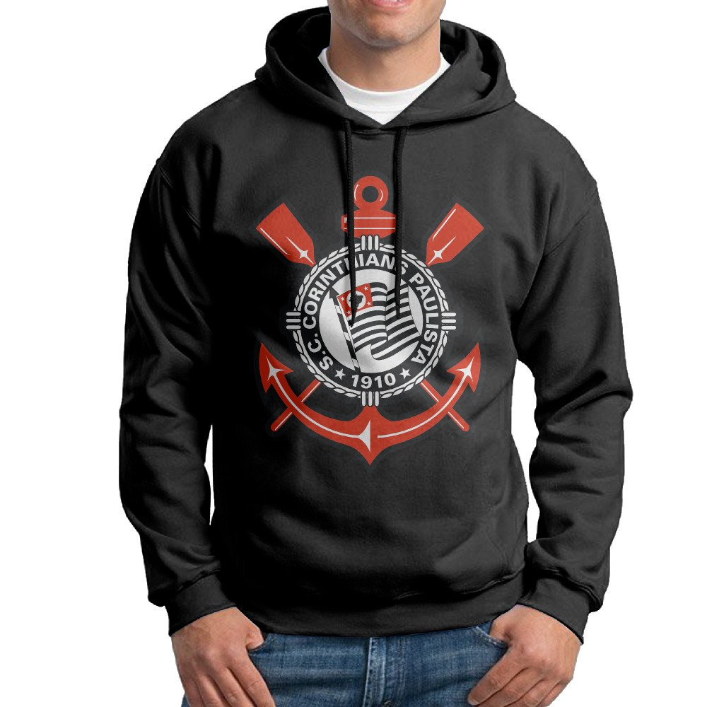 WANG Sport Club Corinthians Paulista Mens Fashion Printed Hooded Sweatshirt
