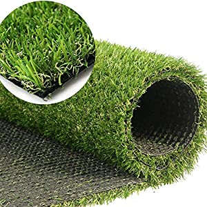 Realistic Indoor Outdoor Artificial Grass Turf Mat,Simulated Synthetic Lawn Garden Landscape Patio Thick Fake Faux Grass…