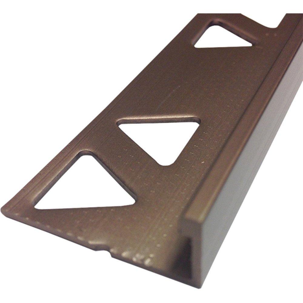 MD 31357 1/2'' (12.5mm) Tile Edge 8Ft Satin Copper Bronze Tile Trims by MD