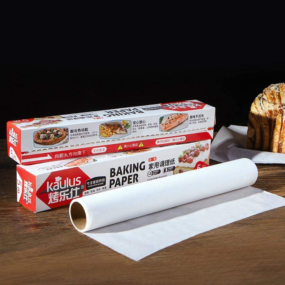 Rollo de papel de hornear cocina fuerte absorbente de aceite papel de silicona de doble cara en calidad alimentaria papel de silicona para hornear en la cocina Eventualx 5M