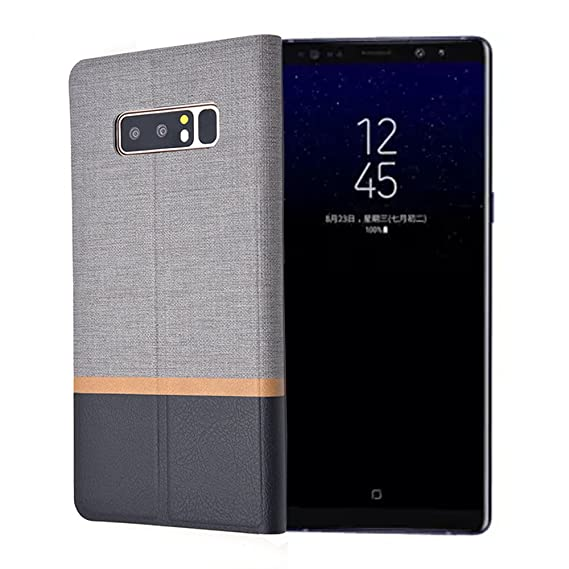 Samsung Galaxy Note 8 Case,Ivachell Luxury for Samsung 8 Note 8 Case Flip Canvas Clamshell Phone case TPU Silicone 6.3 Inch Cover Note8 Fundas for ...