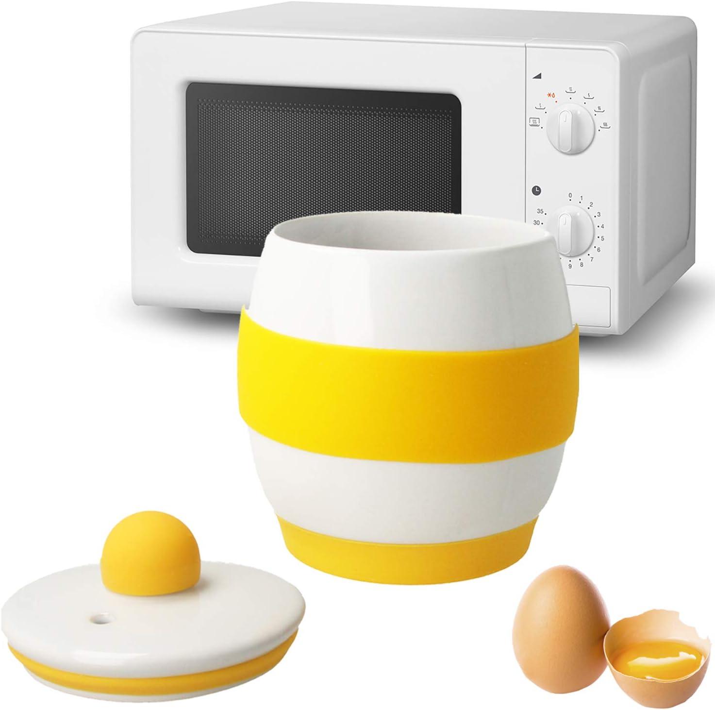 Wei/ß MovilCom/® Mikrowellen-Ei Egg Poacher Mikrowellen-Eier aus Keramik