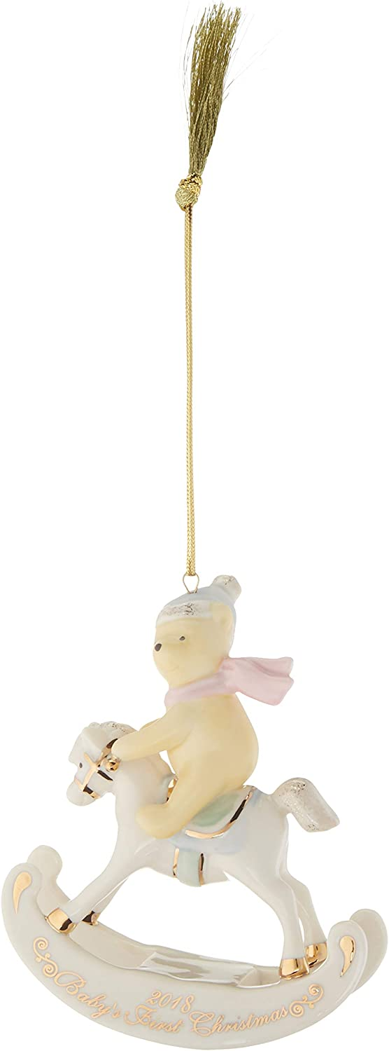 Lenox 2018 Winnie The Pooh Baby's 1st Christmas Ornament