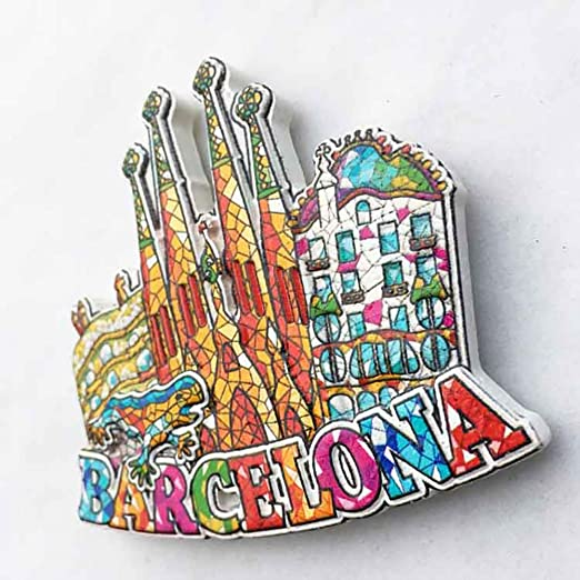 Barcelona España 3D Mosaico Sagrada Familia Catedral Refrigerador ...