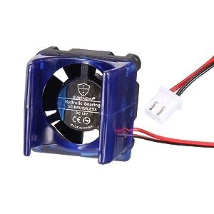 uxcell V6 Cooling Fan DC 12V for 3D Printer Extruder Hotend