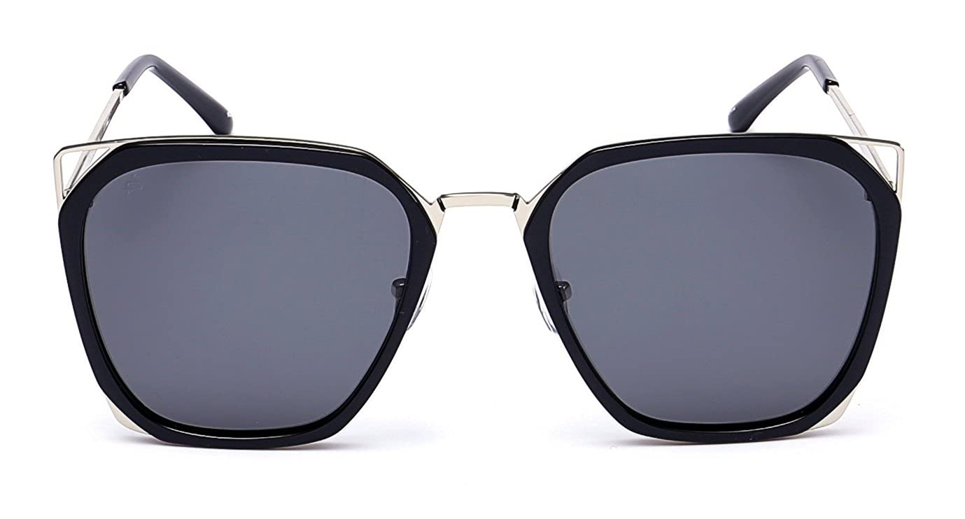 "ba5c8a6762 Amazon.com  PRIVÉ REVAUX ""The Queen"" Handcrafted Designer Geometric  Polarized Sunglasses For Women (Blue)  Clothing"