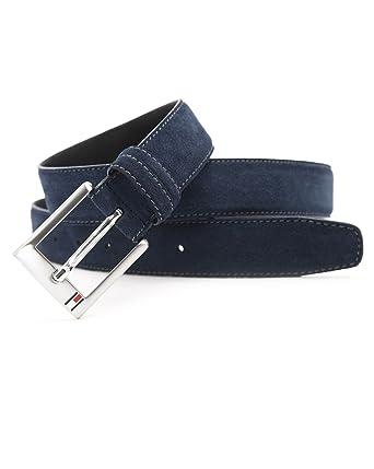 3329deef3d5 Tommy Hilfiger - Belts - Men - Boston Navy Suede Belt for men - 95:  Amazon.co.uk: Clothing