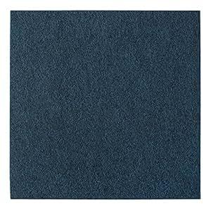 Plancha de fieltro andiamo autoadhesiva, alfombra suelo, set = 4m² - contenido 25 unidades, azul