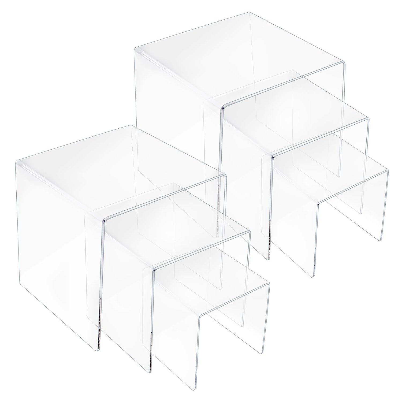 SUNEE Clear Acrylic Display Risers(3