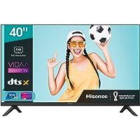 Hisense 40AE5500F - Smart TV, Resolución Full HD, Natural Color Enhancer, Dolby Audio, Vidaa U 2.5 con IA, HDMI, USB…