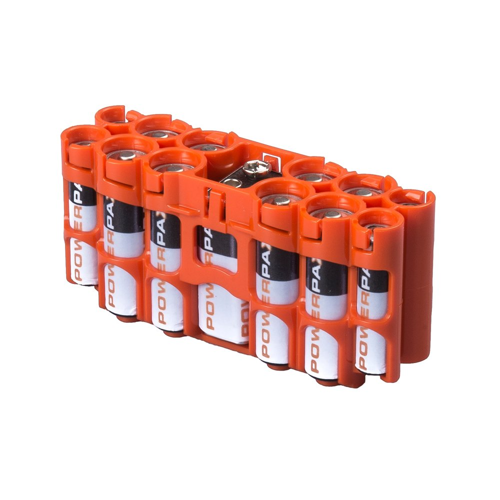 Orange Storacell by Powerpax A9 Multi-Pack Battery Caddy