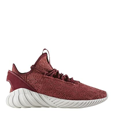 04c451bb Image Unavailable. Image not available for. Color: adidas Men Tubular Doom  Sock Primeknit red Mystery ...