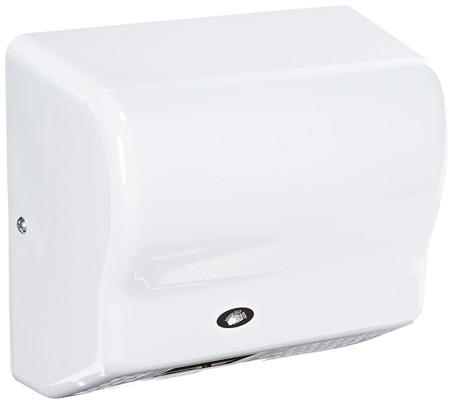 Image of American Dryer Global GX1-M Steel Cover Automatic Hand Dryer, 110-120V, 1,500W Power, 50/60Hz, White Epoxy Finish Hand Dryers