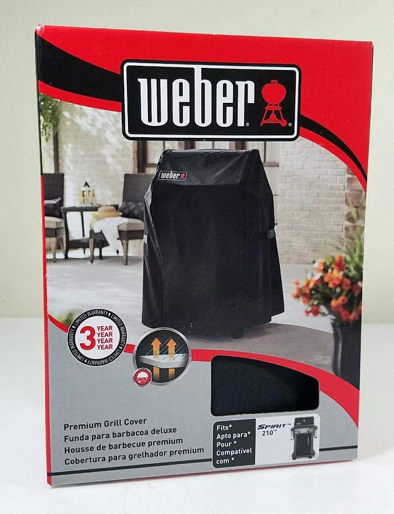 Weber 7105 Premium Grill Cover for Weber Spirit 210 Series Gas Grills (29.5 x 26 x 43) by weber7105