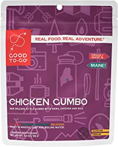 GOOD TO-GO Chicken Gumbo   Dehydrated Backpacking and Camping Food   Lightweight   Easy to Prepare