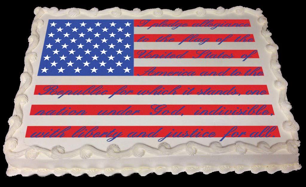 Pledge of Allegiance Flag Cake/Craft Stencil by Designer Stencils (Image #3)