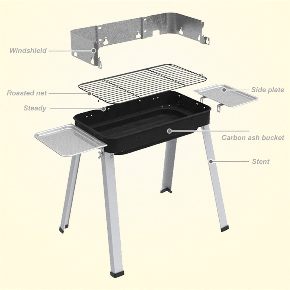 gaixample.org Garden & Outdoors Picnic Barbecues 57CM COSTWAY ...