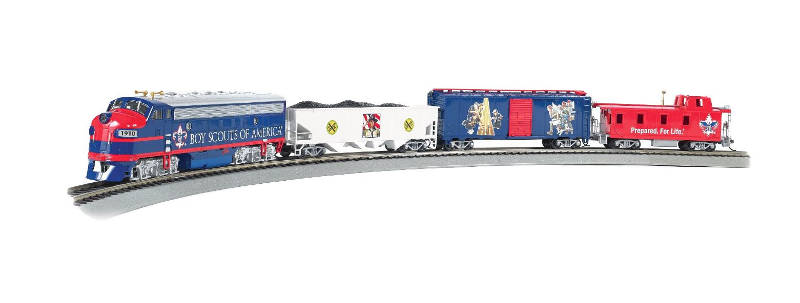 Bachmann Industries - SCOUT SPECIAL - BOY SCOUTS OF AMERICA E-Z App Smart Phone Controlled HO Scale Electric Train Set
