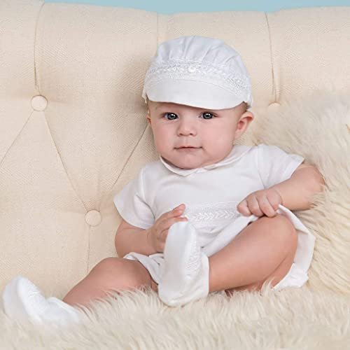 f0aa28e52 Amazon.com: Henry Boys Christening and Baptism romper set (Size 18 ...