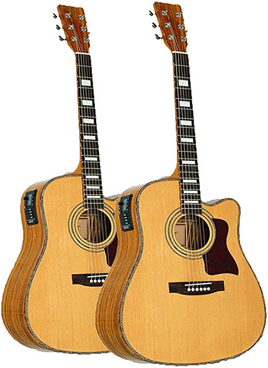 Caja de guitarra acústica eléctrica de 41 pulgadas: Amazon.es: Hogar