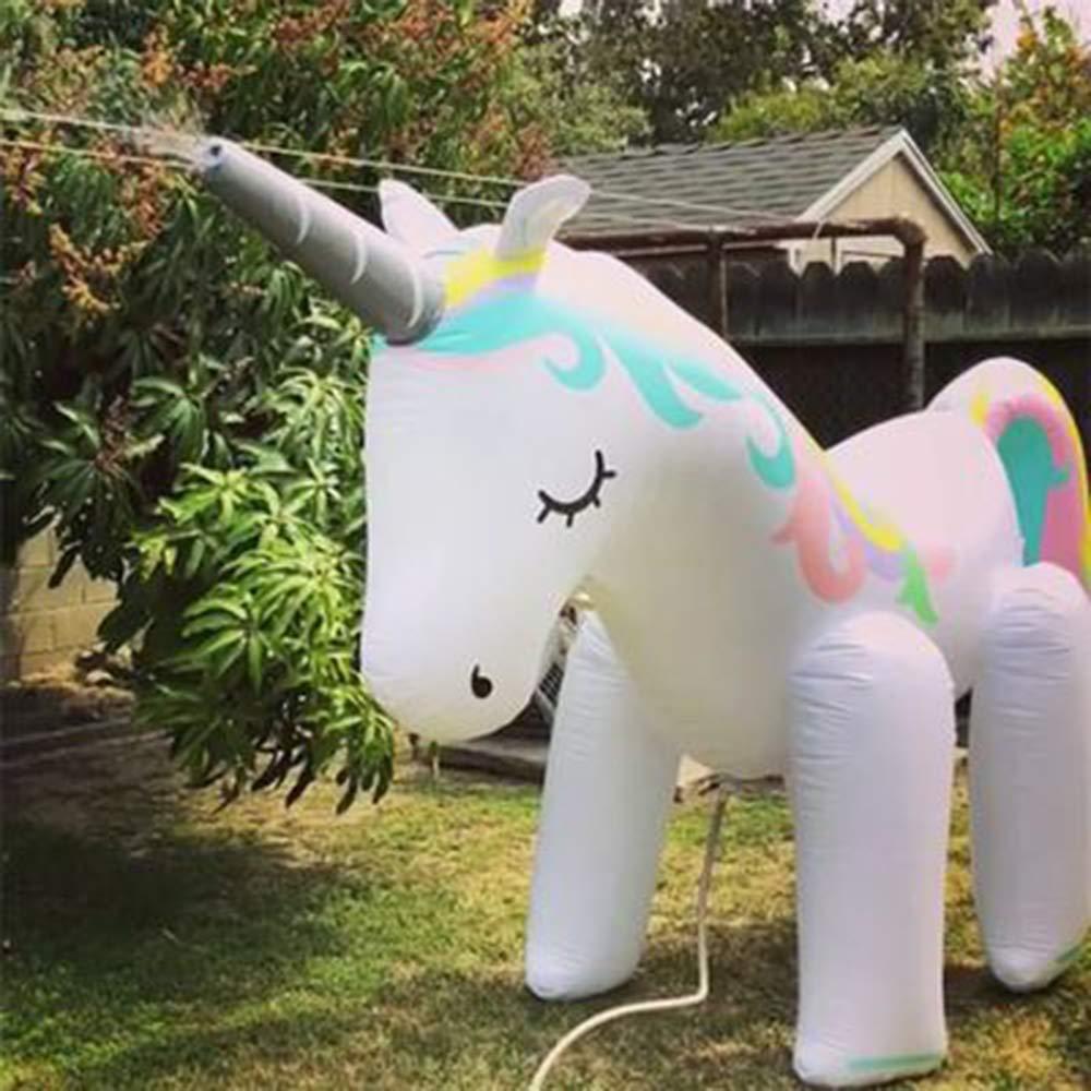 Mitrc Summer Sprinkler Toy, PVC Kids Sprinkler Inflatable Unicorn for Baby Yard Summer Water Spray Toy Unicorn Sprinkler by Mitrc (Image #5)