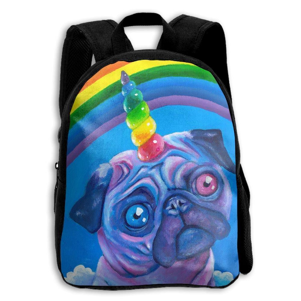 on sale Rainbow Pugicorn Print Kids Backpack Toys Bag Toddler Bag For Children