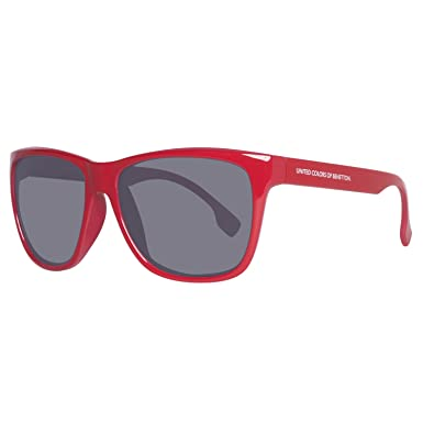 United Colors of Benetton BENETTON Unisex-Erwachsene Sonnenbrille BE882S03, Rot (Red), 58
