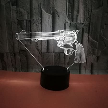 modern simple (pistolet) 3d petite veilleuse 7 décoloration