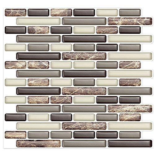 k Backsplash Tile Bathroom and Kitchen Wall | Peel and Stick, Stick-On Backsplash Sticker Tile - Anti-Mold Decal –10