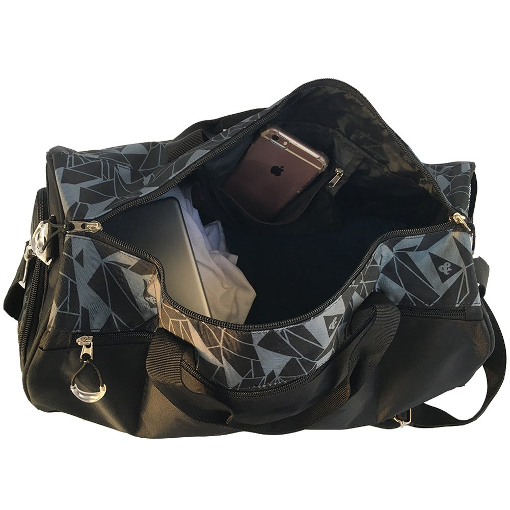 1419828af903c Alando Damen Herren wasserdichter Sporttasche Reisetasche Vintage Canvas  Weekender Tasche Handgepäck Tasche mit Schuhfach  1540894442-8904  - €21.83