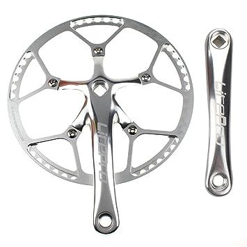 Sola velocidad bielas (platos 58T 170 mm manivela brazo 130 BCD LitePro bicicleta plegable (