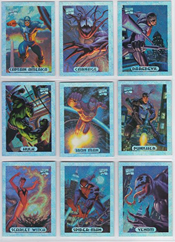 (1994 Marvel Masterpieces Series III SILVER HOLOFOIL Insert Set of 10 Cards NM/M Hildebrandt Bros. )