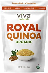 Viva Naturals Organic Quinoa, 4 LB - 100% Royal Bolivian Whole Grain