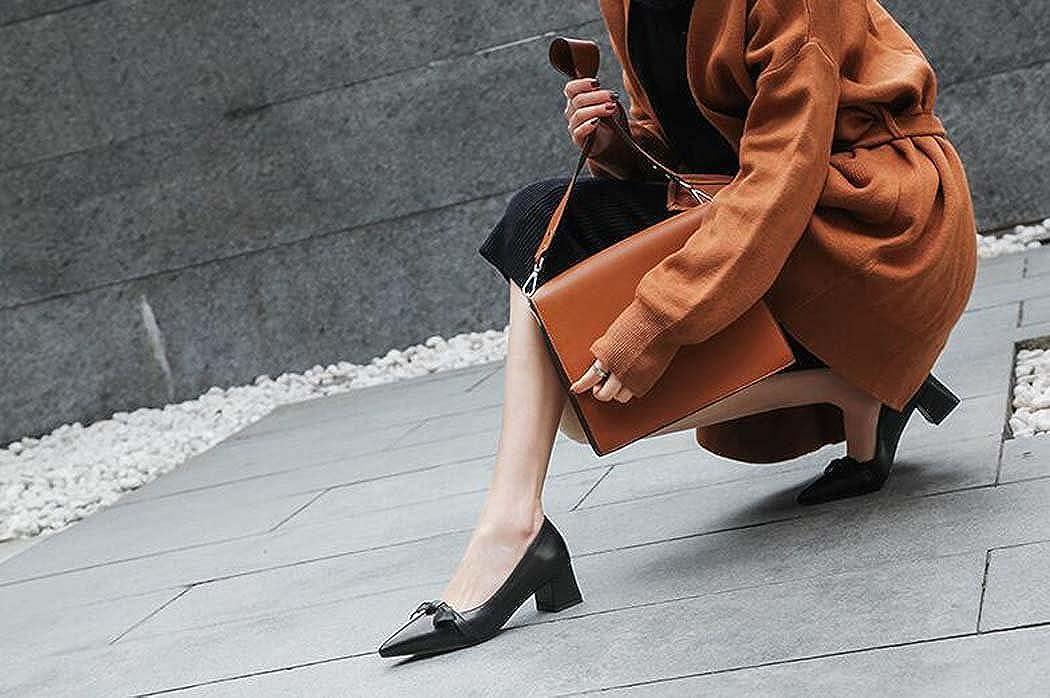 MYI Spitzschuh-Schuhe der Frauen Stilvolle und Bequeme Hochhackige Schuhe Einzelne Schuhe Hochhackige Schwarz/Weiß Größe 34-39 Schwarz e0d466