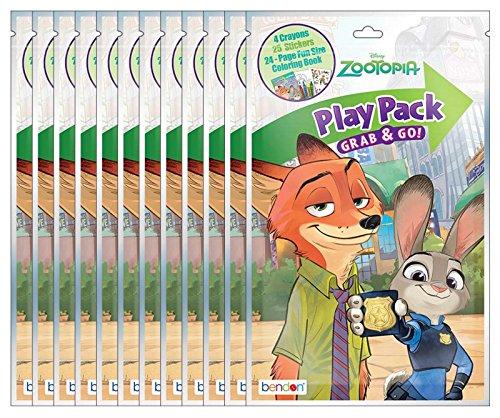 Disney Zootopia Grab & Go Play Packs (Pack of 12)