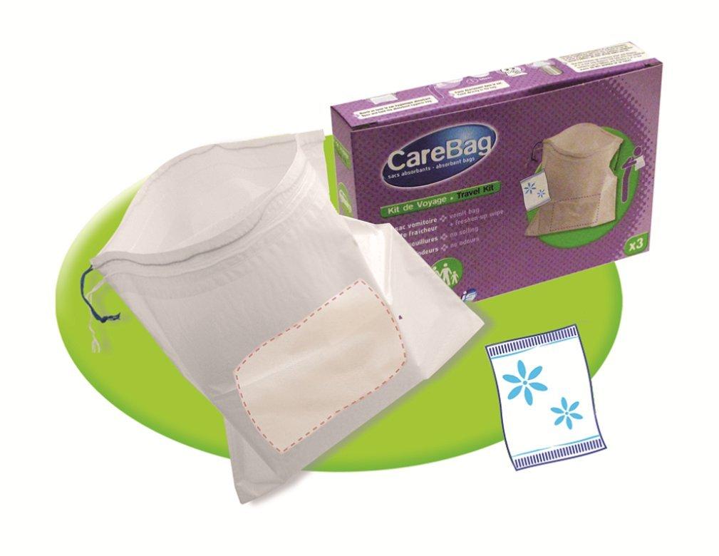 Cleanis Care Bag - Kit de viaje compuesto por bolsa para vomitar y toallita limpiadora refrescante (lote de 3 unidades): Amazon.es: Industria, ...