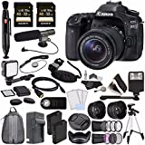Canon EOS 80D DSLR Camera (Body Only) + Sony 32GB SDHC Card + Rechargable Li-Ion Battery + Home and Car External Charger + HDMI Cable + Remote + Card Reader+ Card Wallet Video Creator Kit