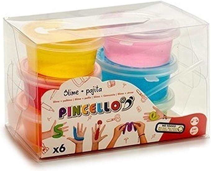 Pincello Juego 6 Botes Slime 40gr Cada uno,Set 6 ollas Tarro de Limo Slime 40gr Super Slime Colores Surtidos: Amazon.es: Juguetes y juegos