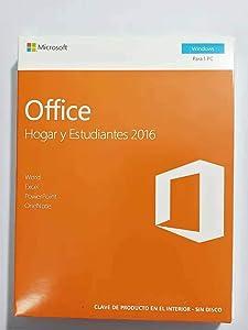 Office Hogar y Estudiantes 2016 - 1 licencia para PC | Windows 10 Windows 8 Windows 7 |