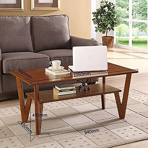 Oak Magazine Floor Lamp - D&L Solid wood Waterproof Side table, Rectangle Sofa table Bedroom Night table Creativity Coffee table Modern Simple Telephone table Storage rack-brown L105xW55xH45.5cm