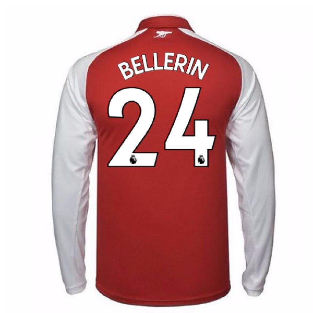 2017-18 Arsenal Home Long Sleeve Shirt Kids (Bellerin 24) B077PNT6Q4Red Small Boys 24/26\