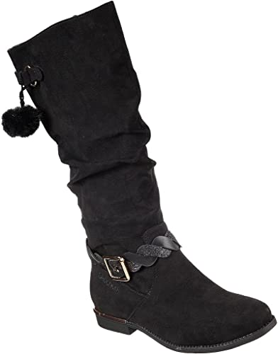 skechers girls black boots