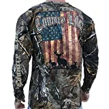 Country Life Deer American Flag Realtree Camo Long Sleeve Shirt (X-Large) offers