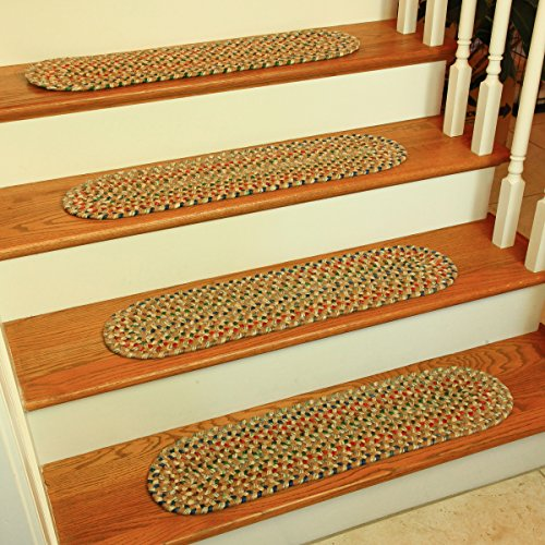 Katherine Multi Stair Treads Rug, 8 by 28-Inch, Camel, Set of 4