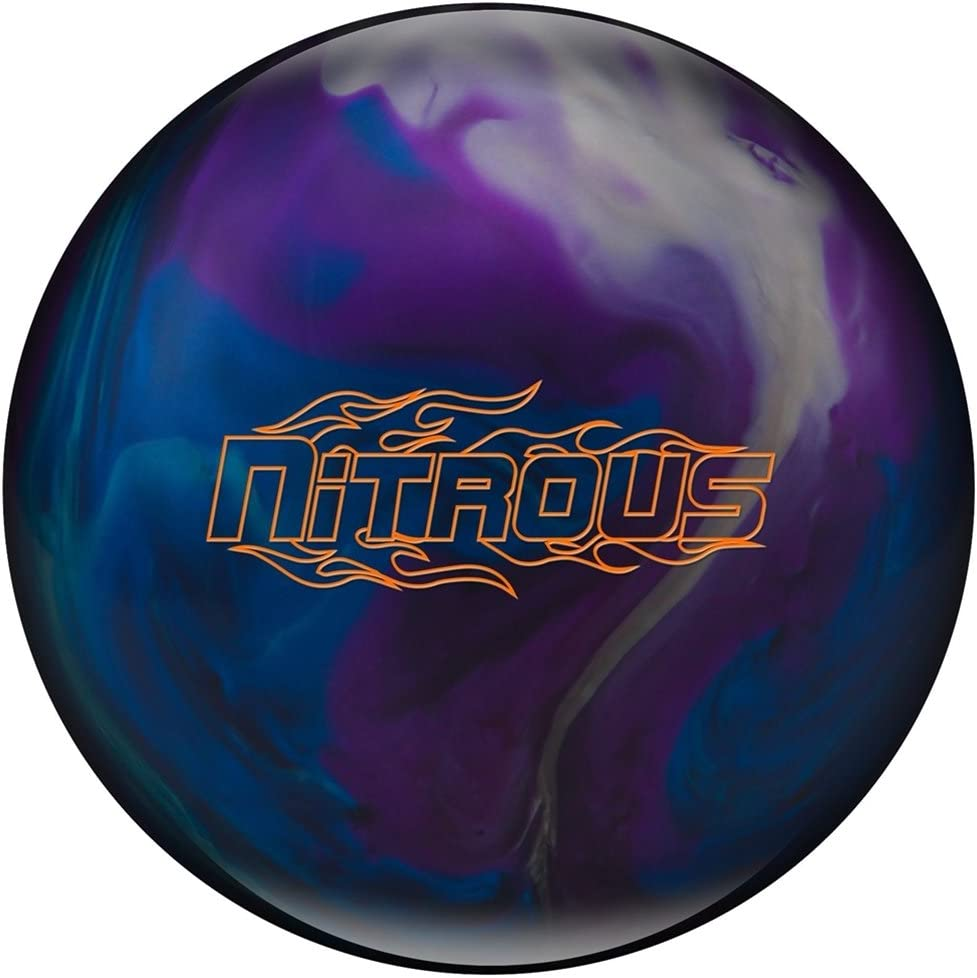 Nitrous pre-drilled Bowling ball-パープル/ブルー/シルバー  12lbs